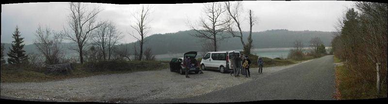 Arrivée sur le bord du lac