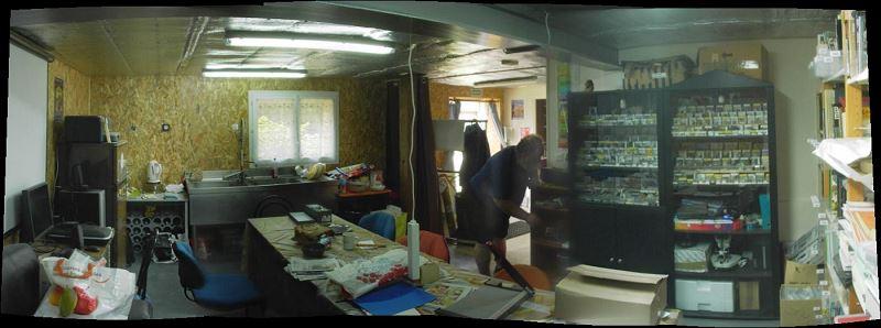 Panoramique de la salle à manger - cuisine, avec Jacques
