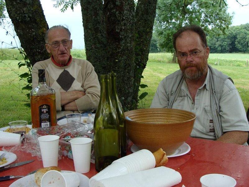 Rangement de l'ancien local: la pause déjeuner..