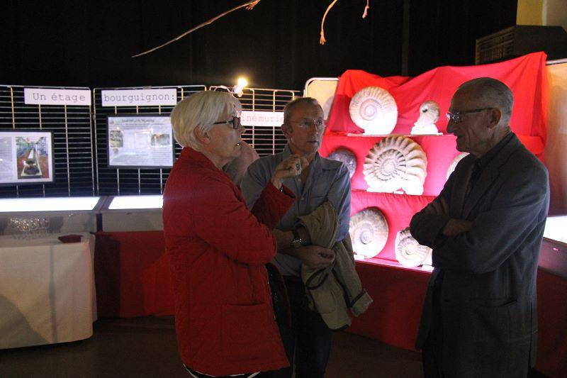 Avec Marie Françoise et Noël: on discute fossiles bien sûr...