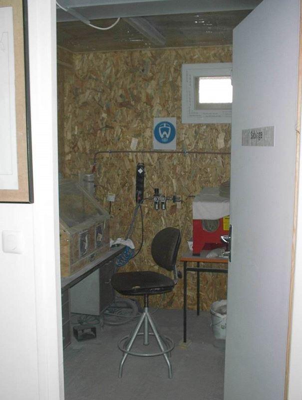 La salle de sablage